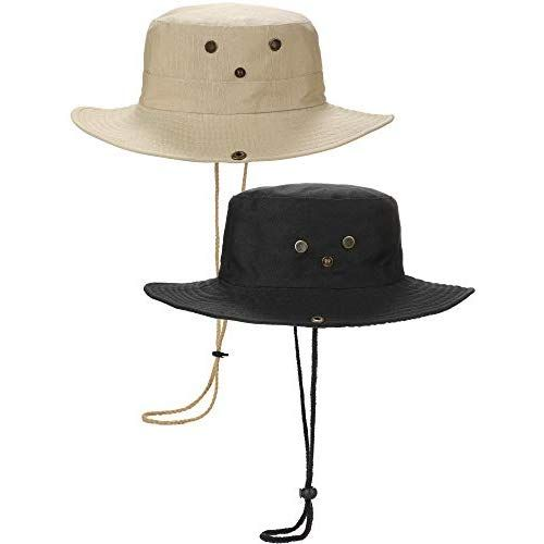 20d302549 Norme 2 Pieces Outdoor Boonie Hat Summer Sun Hats Hunting Fishing ...