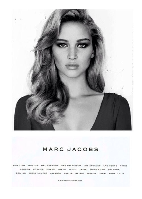 Jennifer Lawrence for Marc Jacobs. Flawless