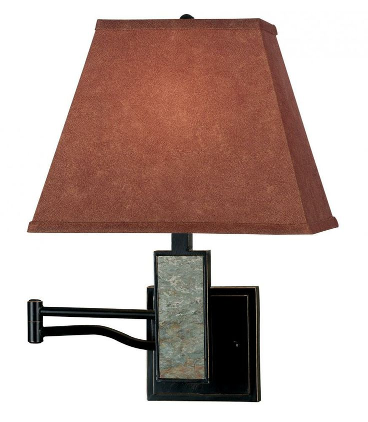 This Swing Arm Wall Lamp From Kenroy Home Features A Cinnamon Colored Shade  And Natural