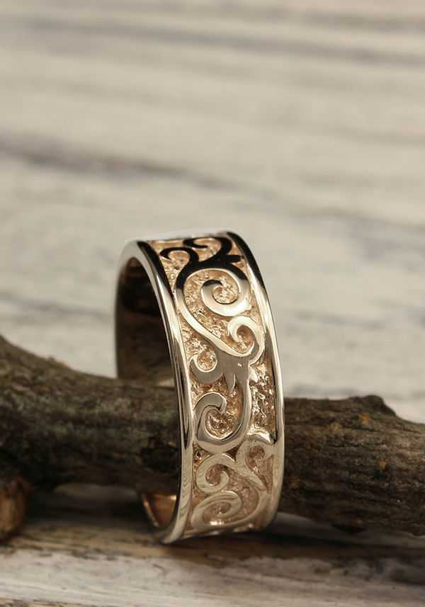Men S Wedding Band With Monograms Unique Mens Wedding Etsy In 2020 Mens Wedding Rings Unique Mens Wedding Rings Rings For Men