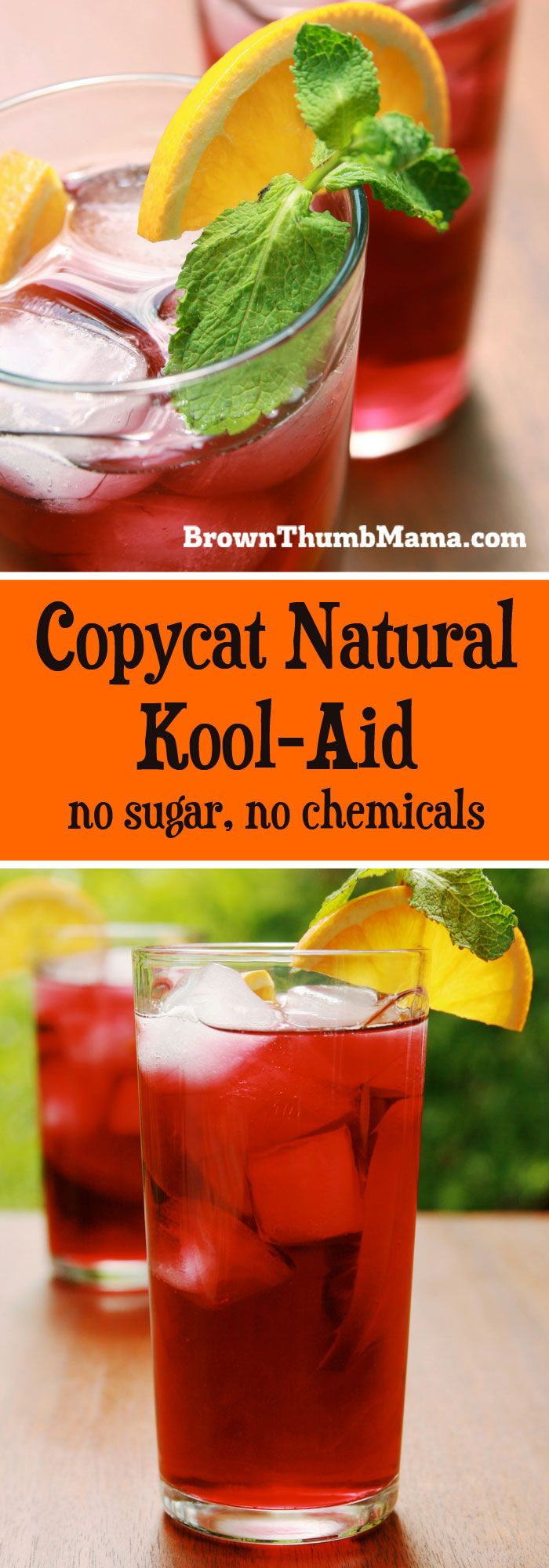 My kids love this copycat natural Kool-Aid! It's easy to make in several delicious, fruity flavors, and is sweetened with honey, not sugar.