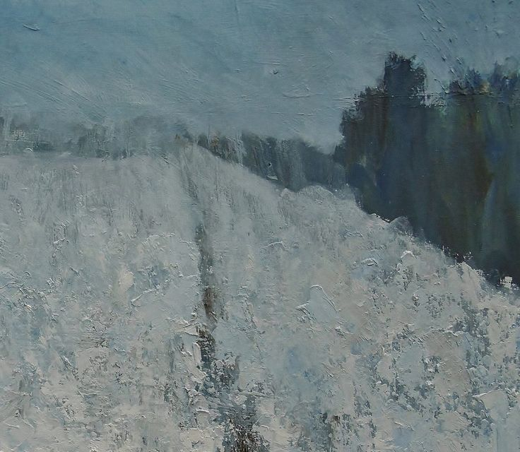 FINEARTSEEN - View Slow Melting Snow, Mid Winter by Nikki Wheeler. A beautiful original Winter landscape painting. Available on FineArtSeen - The Home Of Original Art. Enjoy Free Delivery with every order. << Pin For Later >>