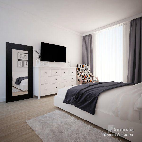 Шведский стиль, Алина Сергиенко, Спальня, Дизайн интерьеров Formo.ua