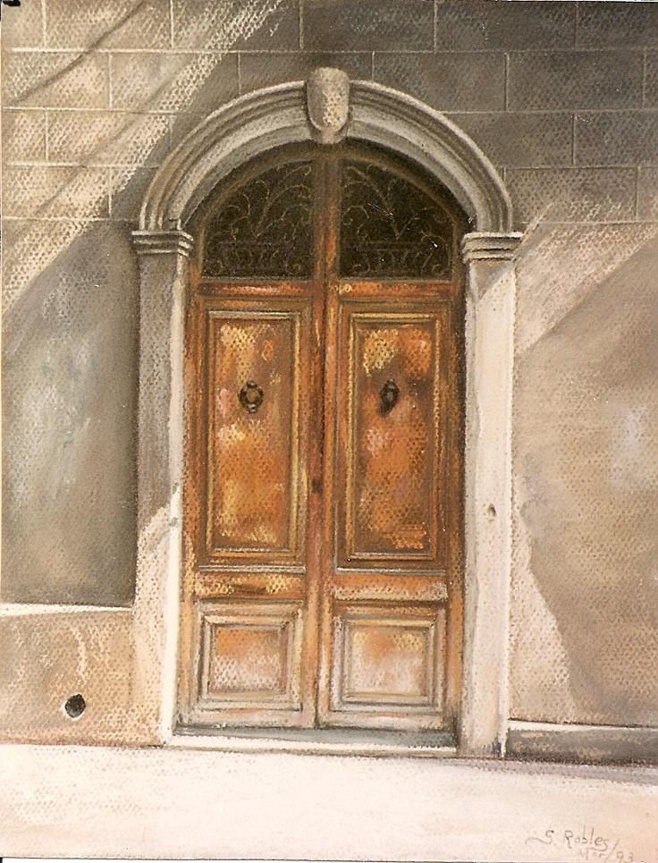 Pilar S. Robles. Puerta de Gracia (Barcelona) nº 2. Pastel. 50X44