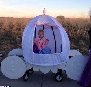 Cinerella's Coach (wagon idea for Halloween)