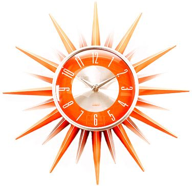 #orange sunburst clock