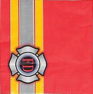 FIREFIGHTER PARTY Fireman Fire Department Lunch Napkins Serviettes - pack of 16