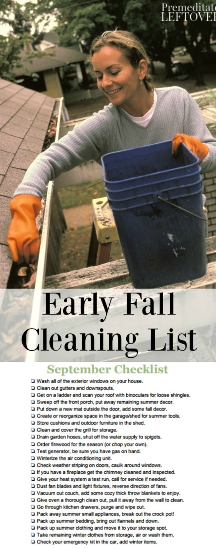 With the arrival of fall, it's time to start preparing for cold weather. Get your home and yard ready for winter with this early fall cleaning. Get your home organized, decluttered, and clean for autumn.