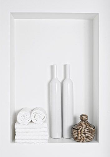 Having a niche put into your bathroom can create features as well as good storage for your accessories and products.