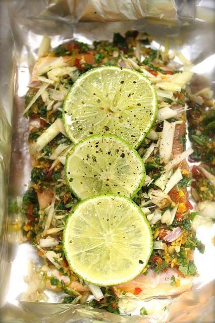 saumon oignon coriandre lime