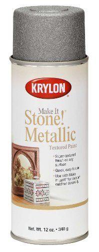 Krylon K08261 Make It Stone! Metallic Textured Aerosol Spray Paint, 12-Ounce, Silver by Krylon, http://www.amazon.com/dp/B002XNP0FM/ref=cm_sw_r_pi_dp_gV97rb12XACDY