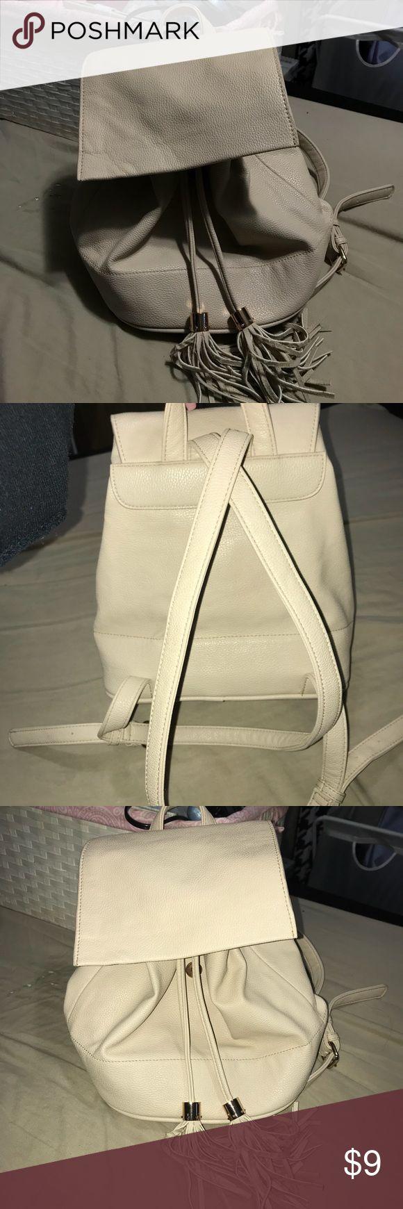Forever21 beige backpack Beige backpack with gold hardware on the tassels  Adjustable shoulder strap's Faux leather   💛💛💛 BUNDLE & SAVE ✨✨✨✨ Forever 21 Bags Backpacks