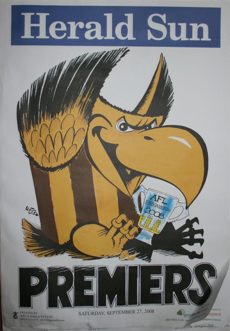 Weg Premiers Poster 2008 Hawthorn Hawks