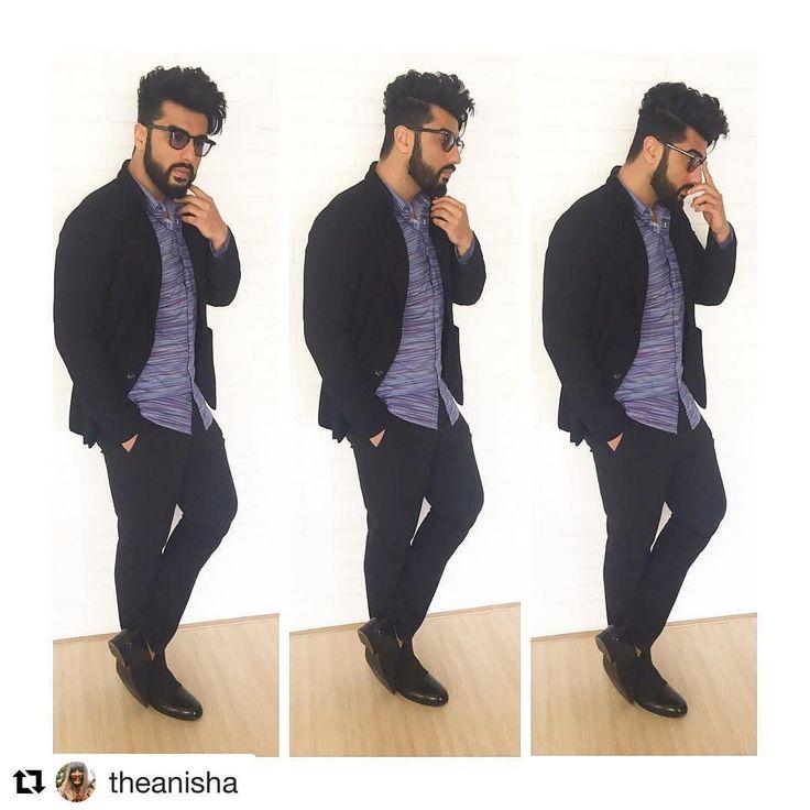 #Repost @theanisha with @repostapp ・・・ Today in an @armani jacket, @hugoboss_men shirt available at @collectiveindia, @jackjones