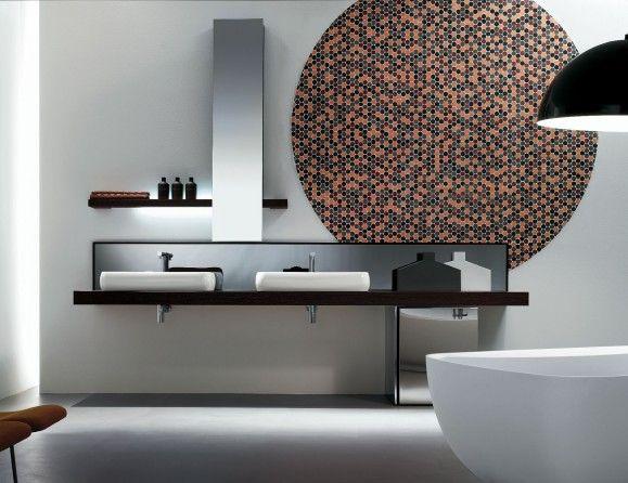 Kubik 55 Wenge Wood Modern Italian Bathroom Vanities