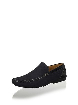 Mezlan Men's Slip on Driver Plain Vamp (Black)