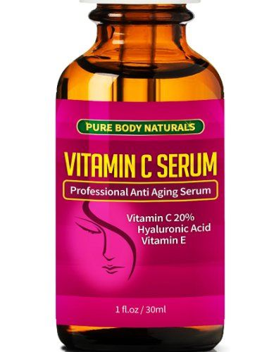 BEST ORGANIC Vitamin C Serum For Your Face. Botanical 20% Vitamin C + E + Hyaluronic Acid Serum. Anti Aging Serum Moisturizer with Natural Ingredients. + Organic Aloe + Amino Blend, Anti Wrinkle Serum Facial Skin Care, Helps Repair Sun Damage, Gradually Fades Sun & Age Spots & Reduces Fine Lines. We Guarantee our Vitamin C Serum Will Leave Your Skin More Radiant, Beautiful & Youthful Looking Or Will Give You A Full Refund, TRY RISK FREE TODAY! Pure Body ...