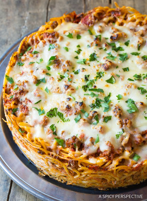 Baked Spaghetti Pie Recipe - A Spicy Perspective