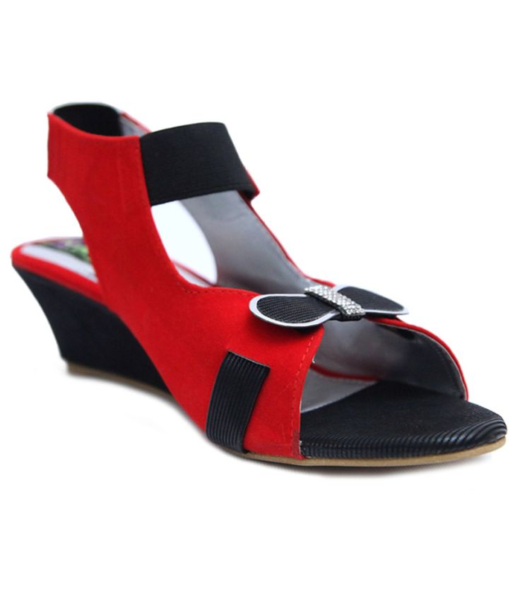 Relexop Red Heeled Sandals