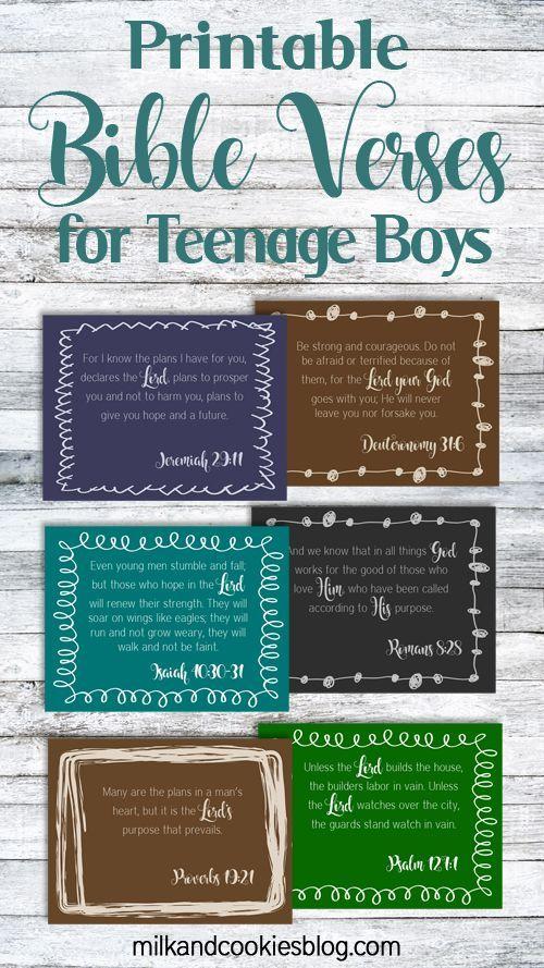 Free Printable Bible Verses For Teenage Boys