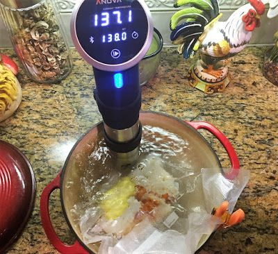 Butter Poached Lobster Tail's using  Sous Vide