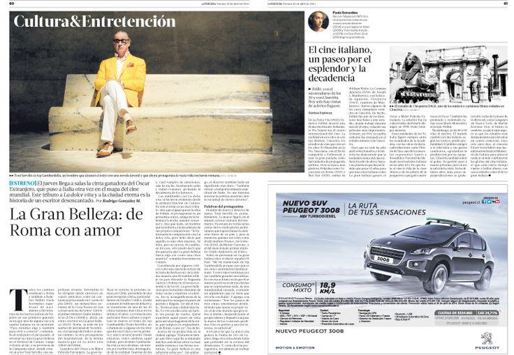 Diagramación de Páginas, Diario la Tercera.