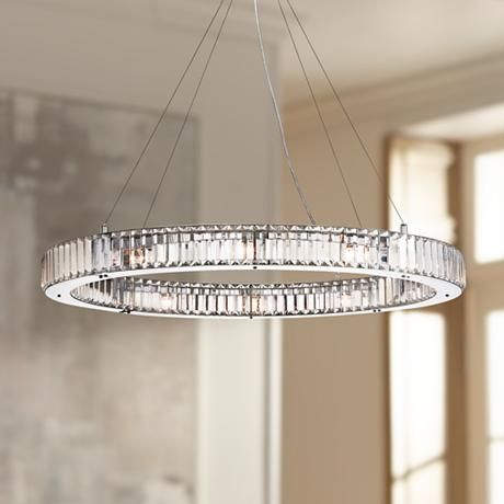 Possini Euro Mulina 35 1 2 Quot Wide Crystal Glass Pendant