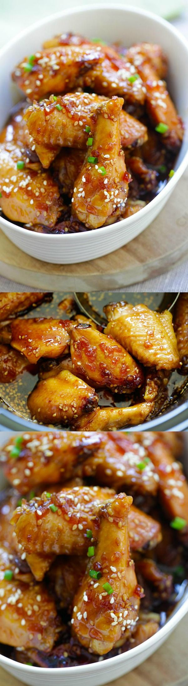 Crock-Pot Wings - sweet, savory and garlicky chicken wings cooked in a slow cooker with island teriyaki sauce. 10 mins prep time, so easy | rasamalaysia.com #ad