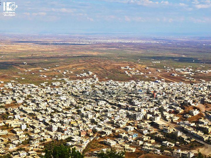 مدينة الحارة من قمة تل الحارة:)