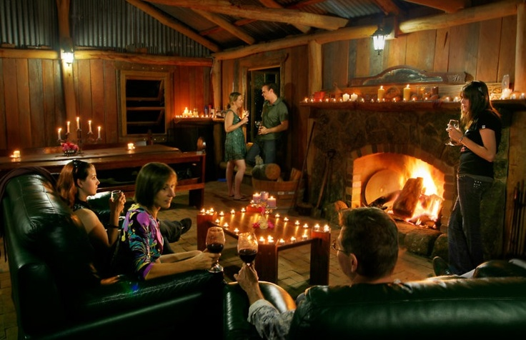 Share some good times with friends by the fire in the hut #Stanthorpe #Queensland #Travel find us at www.diamondvalecottages.com.au
