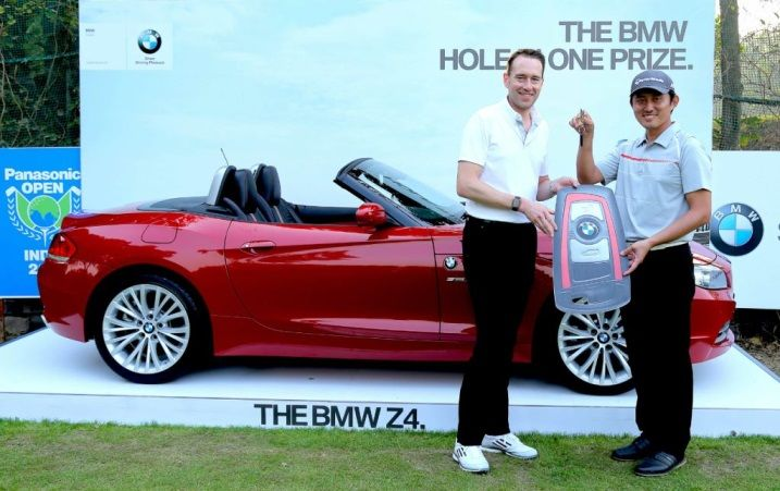 South Korean Golfer #SungLee Scores a Hole-in-one in #Panasonic Open India, Drives Home a BMW Z4.