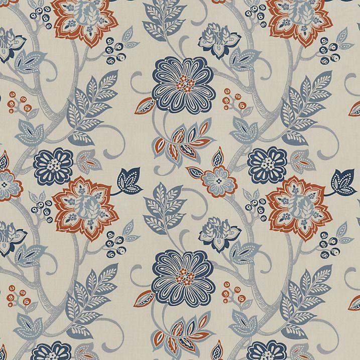 Buy John Lewis Adana Fabric, Indigo Online At Johnlewis.com