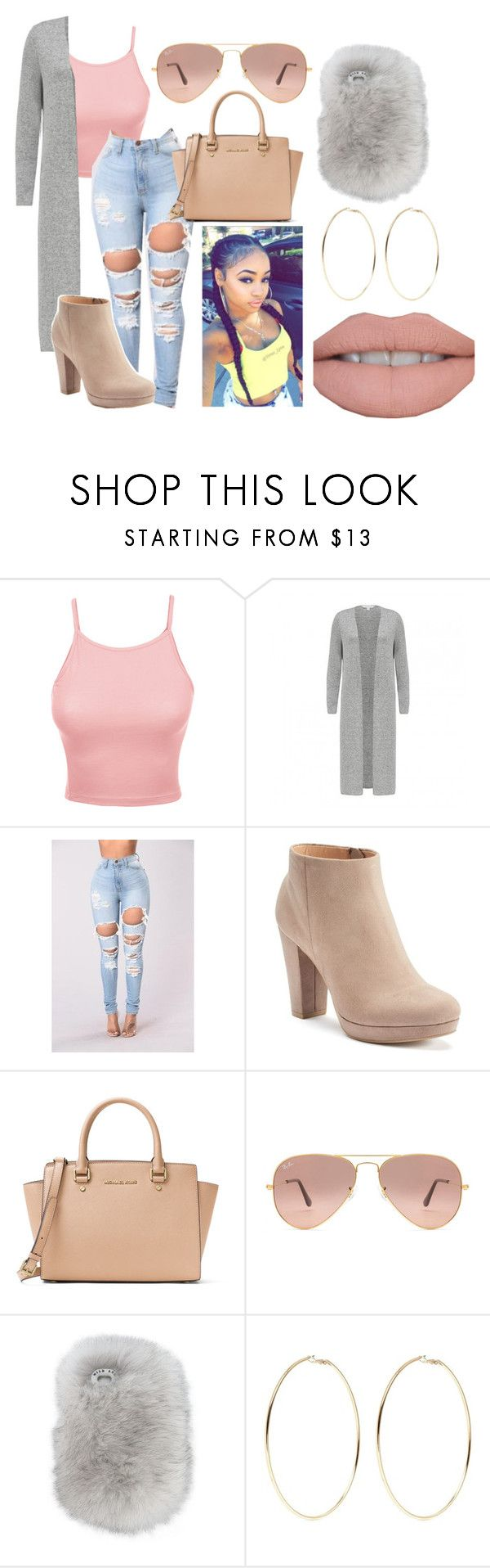 """""""Untitled #66"""" by bvbydest on Polyvore featuring LE3NO, LC Lauren Conrad, MICHAEL Michael Kors, Ray-Ban, Wild & Woolly and Kenneth Jay Lane"""