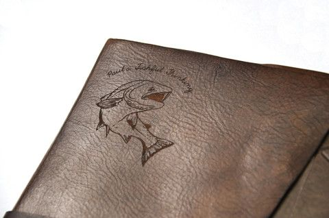A custom engraved journal for Dad.  A treasured Father's Day or birthday gift. Get creative with laser engraving at Make Vancouver.