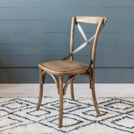 X Back Dark Oak Dining Chair - Kitchen & Dining - Seating - Sofas & Seating