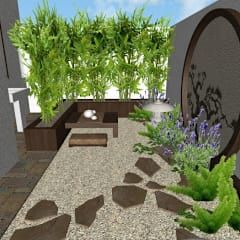 Jardines de estilo asiático de Zen Ambient