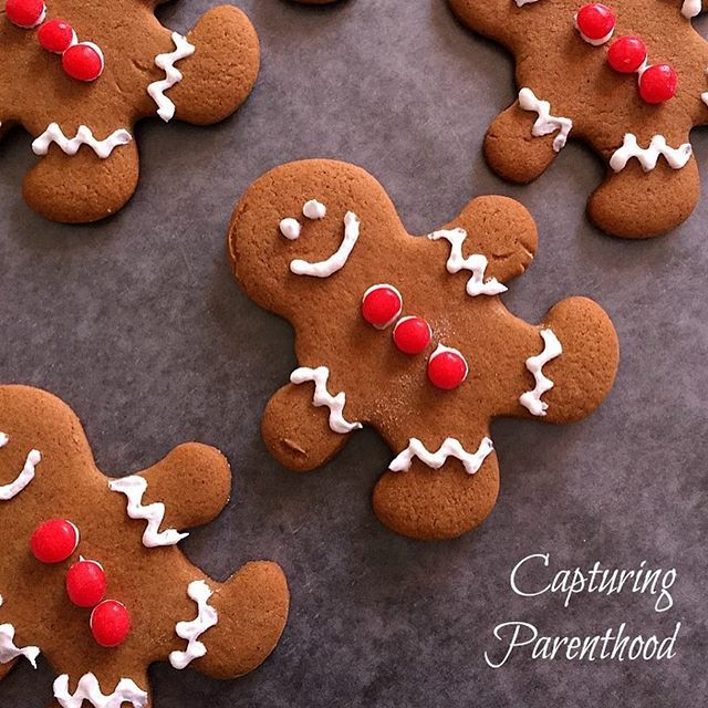 """You can never go wrong with a classic gingerbread cookie during the holiday season! ❤️ They taste great and they're fun to decorate! You can find our favorite recipe by searching """"Gingerbread Cookies"""" on the blog (Link in Bio)! #gingerbreadcookies #holidaycookies #tistheseasonforbaking #cookiedecorating #christmascookies #happyholidays #merrychristmas #holidaybaking #holidayfun #capturingparenthood"""