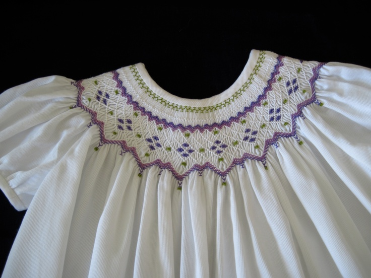 Hand smocked by MC-love the color combinations!