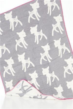 Couverture grise en coton - Bambi