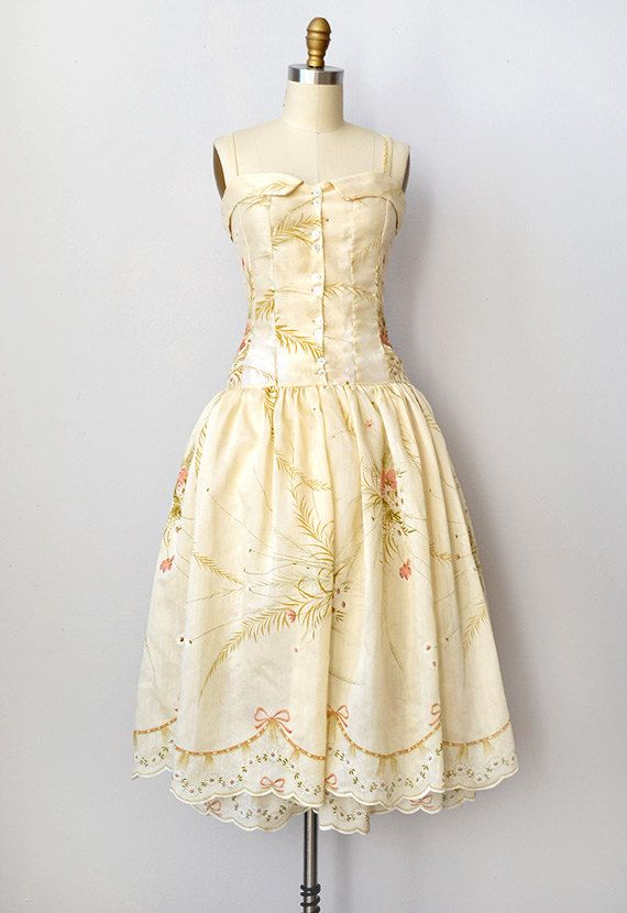 vintage 1950s dress | Garland Ferns Dress