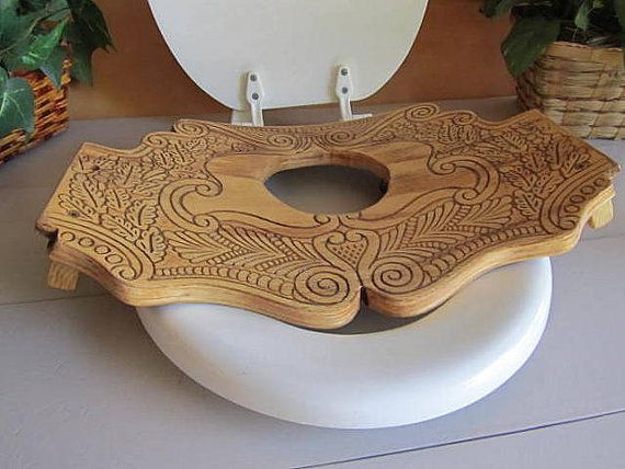 Crafty toilet seat cover