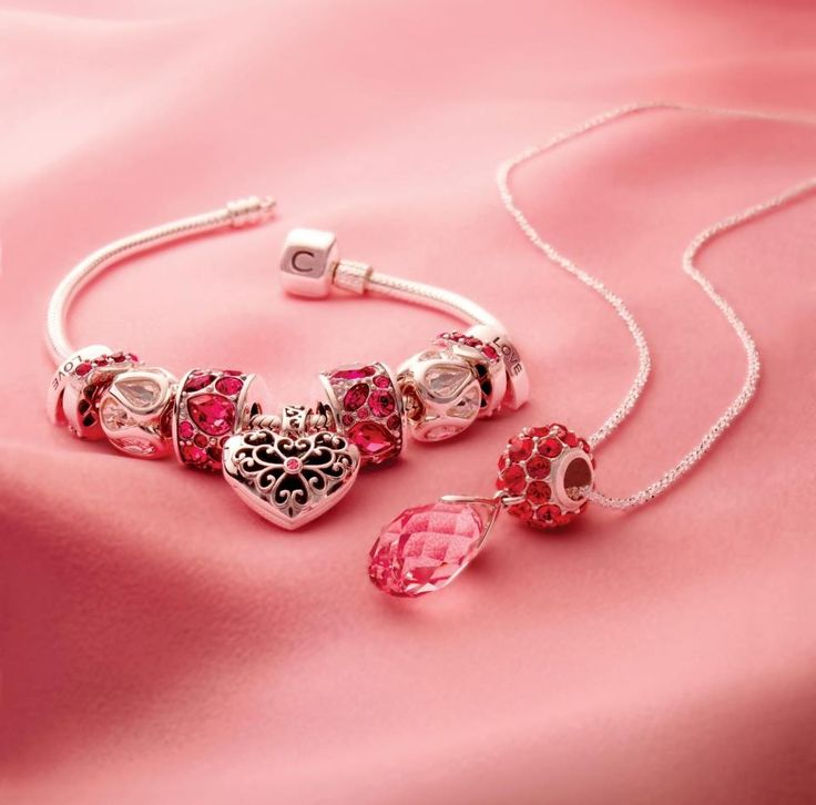 Chamilia rose briolette on necklace AND bracelet! Both available at Crescent Jewelers.