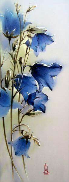 Painted Flowers...The blue is incredible...Michela # AS FLORES DE PLASTICO NAO MORREM......MB