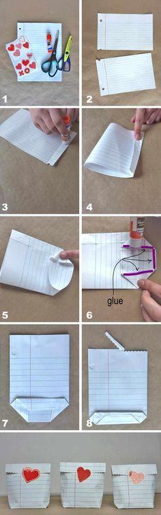 Tüte aus einem Blatt Papier falten - Anleitung