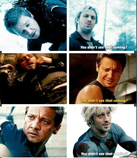 Quicksilver and Hawkeye avengers age of ultron