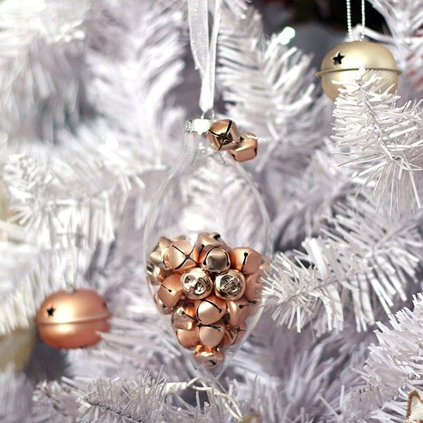 Clear Craft Teardrop Bauble in Pastels and Pearls Christmas