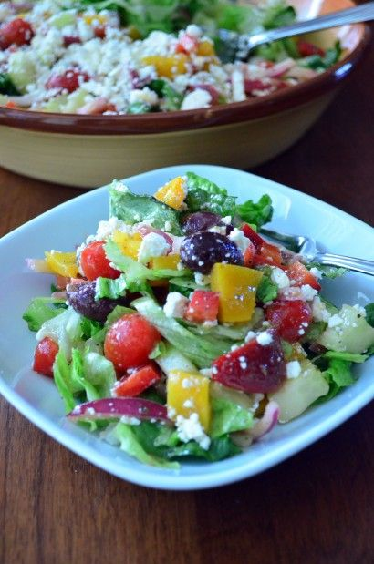 Greek Salad from Tasty Kitchen - Really liked this dressing.  The salad is great!  ~Suz