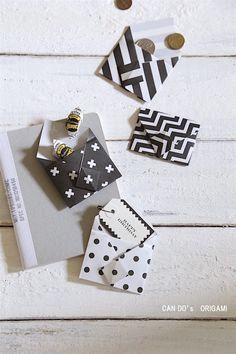 ★キャンドゥ100円折り紙で♪簡単・かわいい・便利なミニ封筒|インテリアと暮らしのヒント
