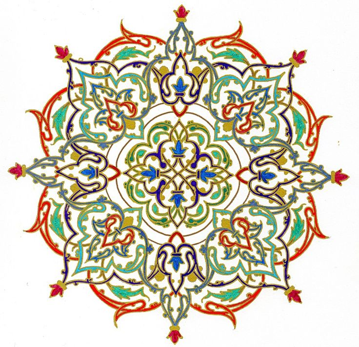 Mandala in gold, adult coloring page for relaxation