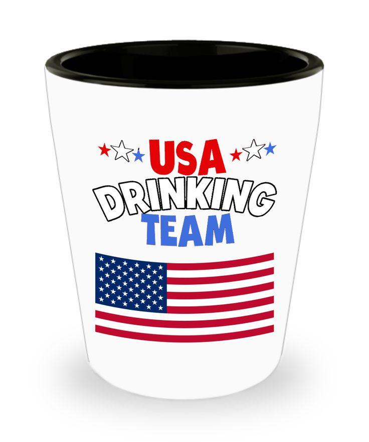 USA Drinking Team Shot Glass America Theme